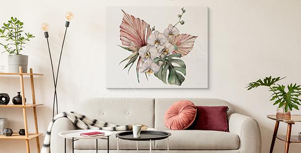 Bild Orchidee und Monstera