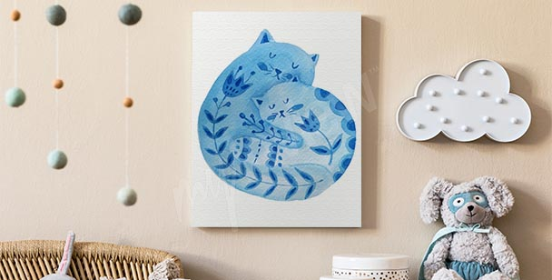 Bild Ornament mit Katze