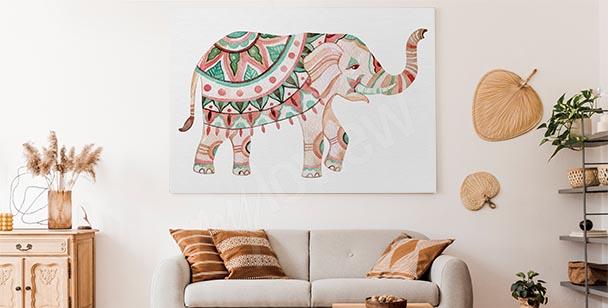 Bild Ornament und Elefant