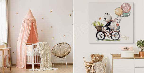Bild Panda auf dem Fahrrad