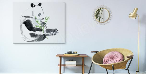 Bild Panda mit einem Bambuszweig