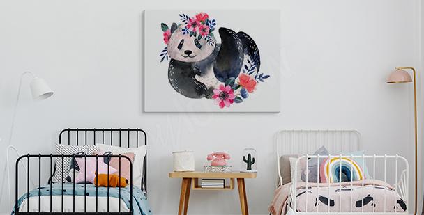 Bild Panda mit Pflanzen