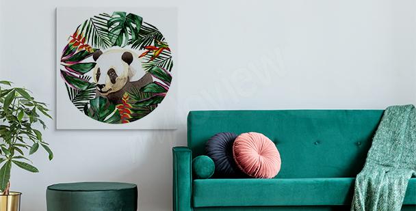 Bild Panda unter Blättern
