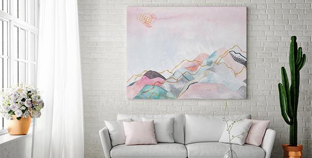 Bild pastellfarbene Landschaft
