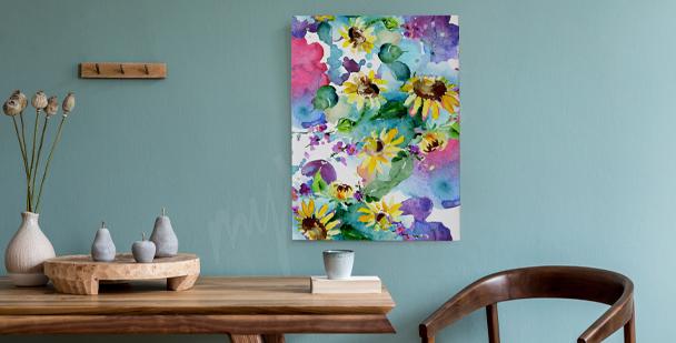 Bild Sonnenblume im Flur