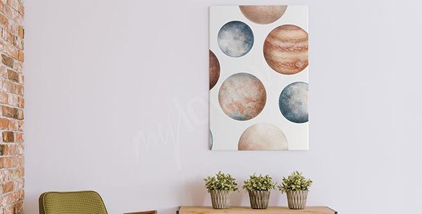 Bild Planeten in Aquarell