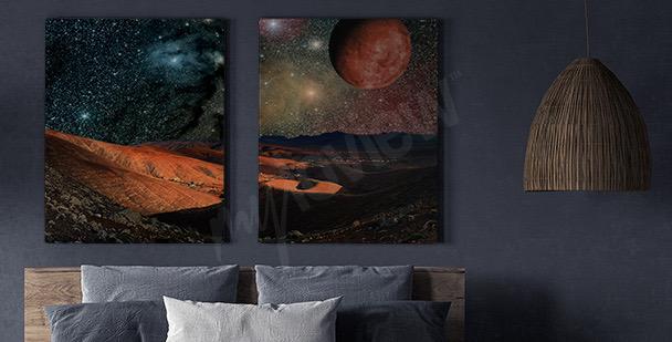 Bild Planeten und Berge