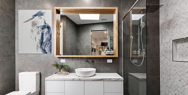 Bild Reiher fürs Badezimmer