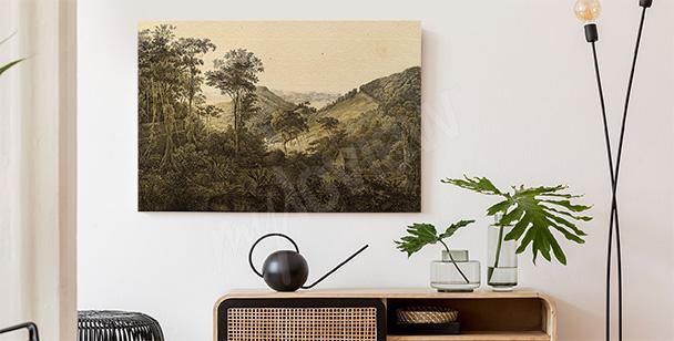 Retro-Bild mit Landschaft