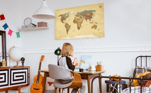 Bild Retro Landkarte