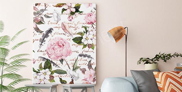 Bild romantischer Stil fürs Wohnzimmer