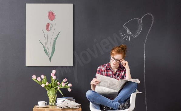 Bild rote Tulpen