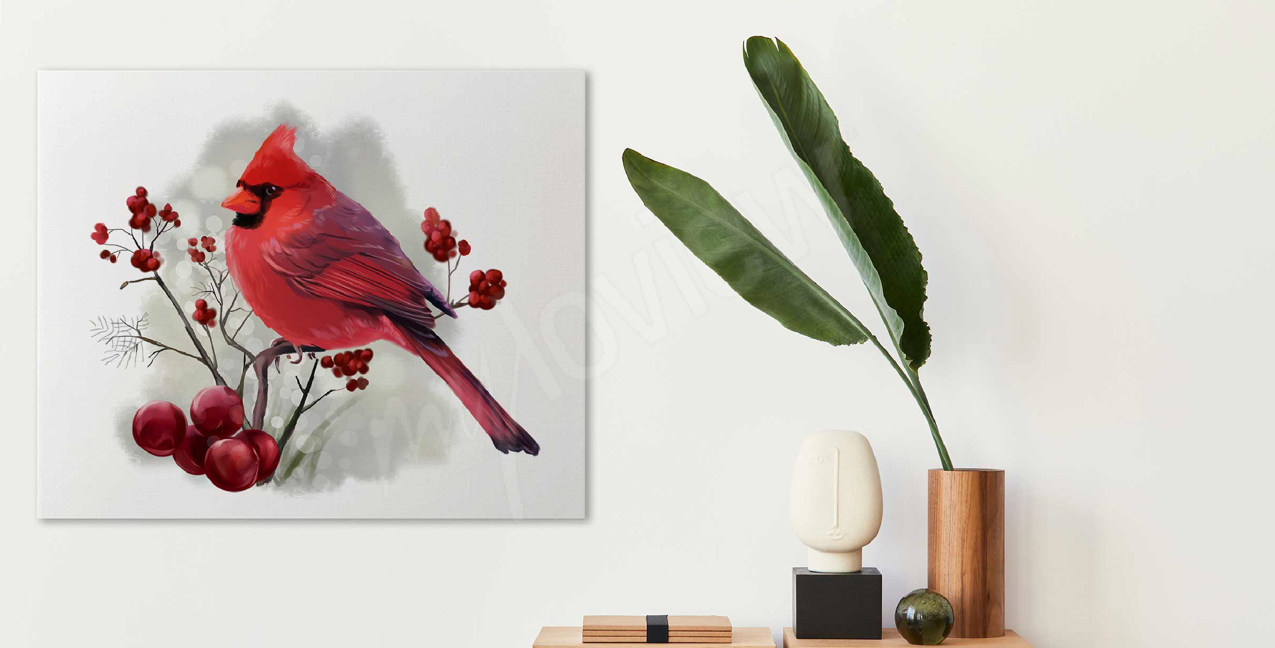 Bild roter Vogel