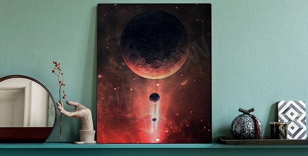 Bild roter Weltraum