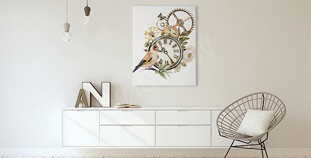 Bild rustikaler Stil mit einer Uhr