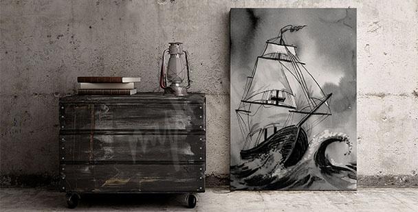 Bild Schiff auf dem Meer