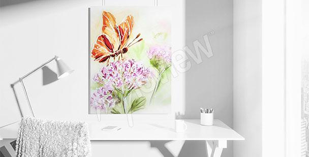 Bild Schmetterling auf einer Blume