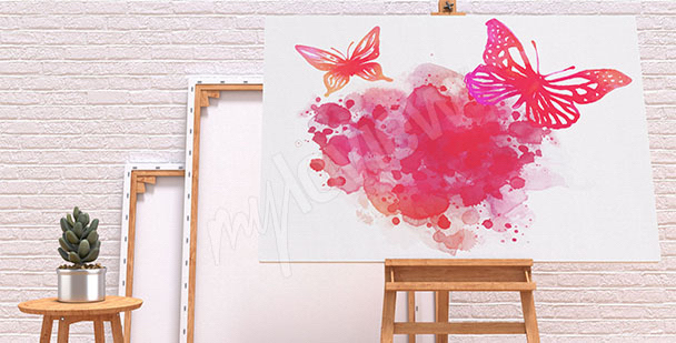 Bild Schmetterlinge Aquarell