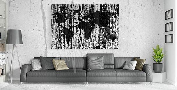 Bild schwarz-weiße Karte
