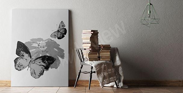 Bild schwarz-weiße Schmetterlinge