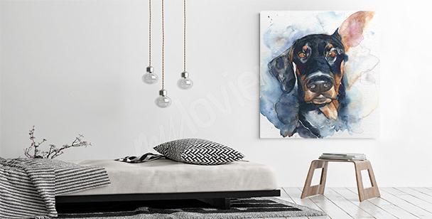 Bild Hundeporträt für das Wohnzimmer
