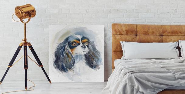 Bild schwarzer Hund für das Wohnzimmer