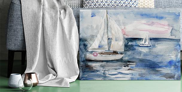 Bild Segelschiffe auf Wasser