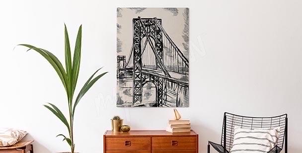 Bild Skizze mit Brücke