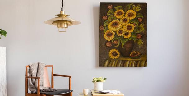 Bild Sonnenblumen in einer Vase