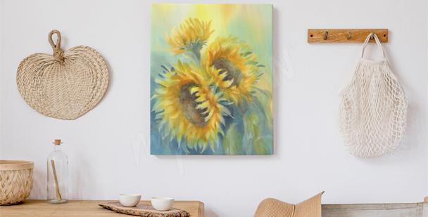 Bild Sonnenblume im Schlafzimmer