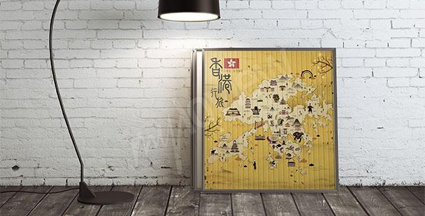 Bild Stadtplan von Hongkong