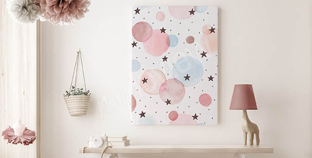 Bild Sterne in Aquarell