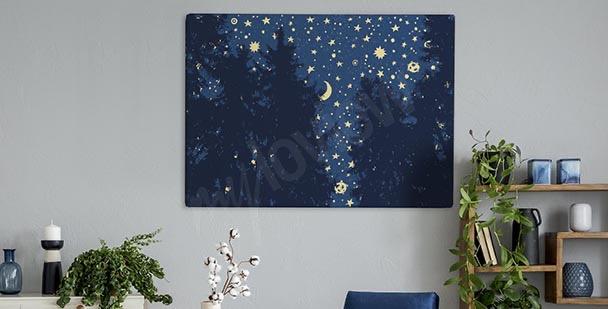 Bild Sterne über dem Wald