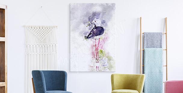Bild Storch Abstraktion
