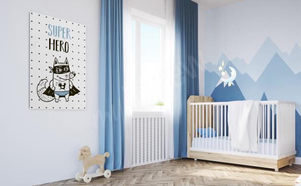 Bild Super Hero Fuchs für Jungenzimmer