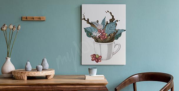 Bild Tasse mit Blättern