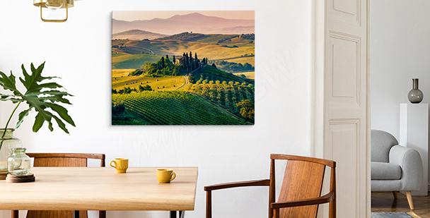 Bild Toskana bei Sonnenuntergang