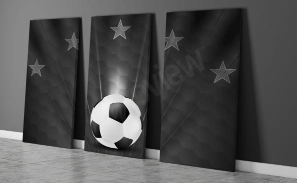 Bild - Triptychon Fußball
