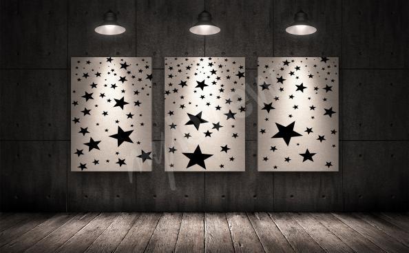 Bild Triptychon mit Sternen