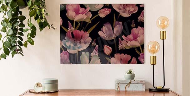 Bild Tulpen auf einem dunklen Hintergrund