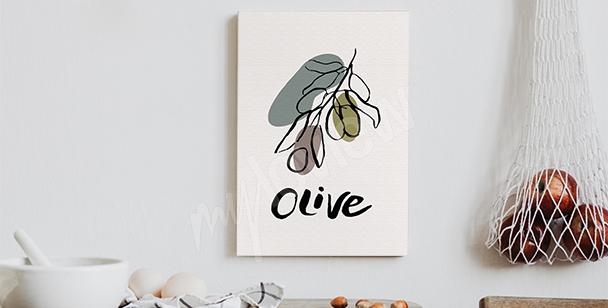 Bild Typografie mit Olive