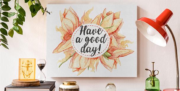 Bild Typografie und Blumen