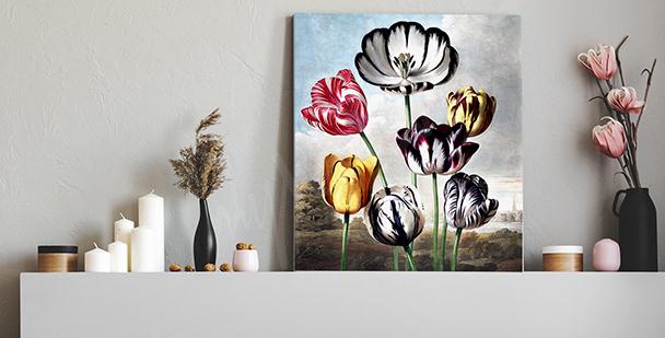 Bild Vintage mit Tulpen
