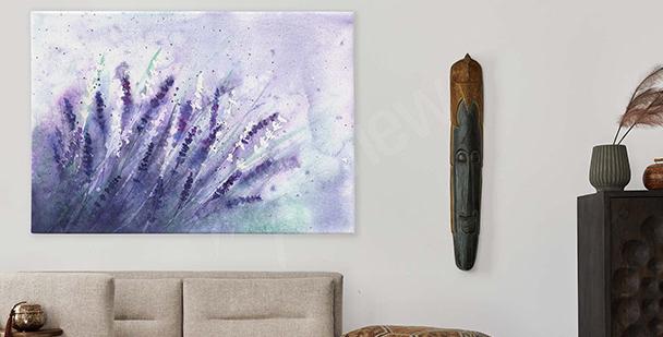 Bild violette Blumen