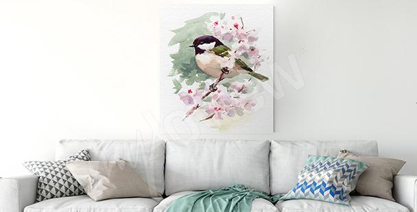 Bild Vogel am Zweig
