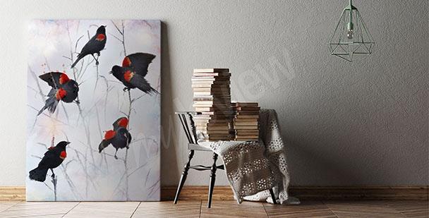 Bild Vögel fürs Wohnzimmer