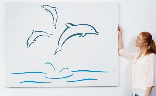 Bild von Delfinen - Minimalismus