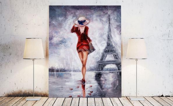 Bild von Frau und Eiffelturm