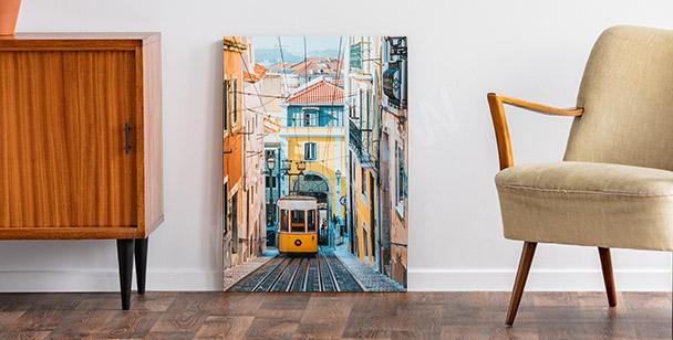 Bild von Lissabon und Seilbahn