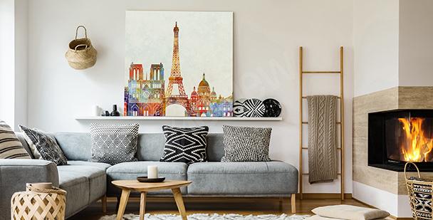 Bild von Paris in Aquarell